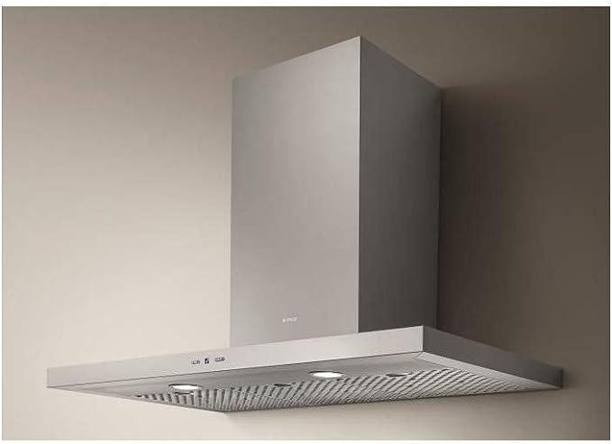 Elica TRENDY IX/A/90 De pared Acero inoxidable 850m³/h - Campana (850 m³/h, Canalizado, 46 dB, 64 dB, 50 cm, 65 cm): Amazon.es: Hogar