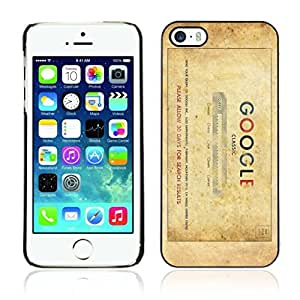 Colorful Printed Hard Protective Back Case Cover Shell Skin for Apple iPhone 5 / 5S ( Vintage Google )