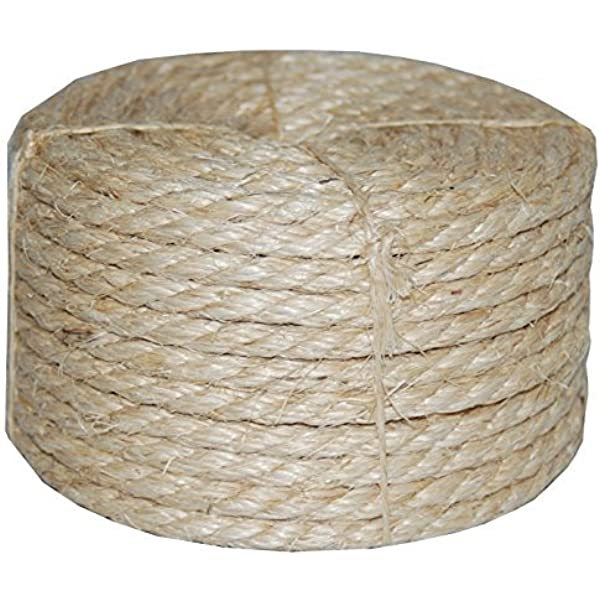 Cat scratch sisal rope 6mm x 6 mètres neuf naturel sisal corde bobine post perroquet
