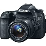Canon EOS 70D DSLR Camera Deluxe Video Creator Kit with Canon EF-S 18-55mm f/3.5-5.6 IS STM Lens + Wide Angle Lens + 2x Telephoto Lens + Flash + SanDisk 32GB SD Memory Card + Accessory Bundle
