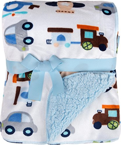 Big Oshi Super Soft Baby Blanket, Blue