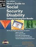 Nolo's Guide to Social Security Disability, David A. Morton, 0873379144