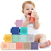 Baby Blocks Soft Building Blocks Baby Toys Teethers Toy Educational Squeeze Play with Numbers Animals Shapes Textures 6…