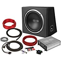 Belva 500 watt Complete Car Subwoofer Package includes 10-inch Subwoofer in Ported Box, Monoblock Amplifier, and Amp Wire Kit [BPKG110v2]