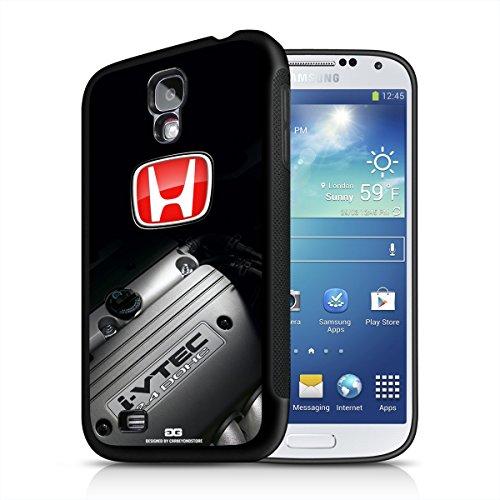 Honda i-VTEC Engine Red H Samsung Galaxy S4 Black TPU Rubber Cell Phone Case