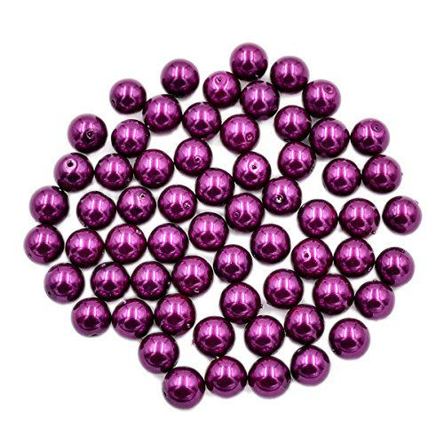 AD Beads Top Quality Czech Glass Pearl Round Loose Beads 3mm 4mm 6mm 8mm 10mm 12mm (3mm (200 Pcs), Plum Purple)