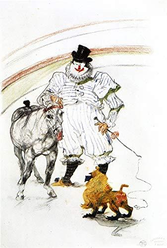 American Gift Services - Artist Henri de Toulouse Lautrec Fine Art Poster Print of Painting Au Cirque Cheval et Singe Dresses - 24x36 ()