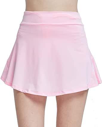 CNSSKJ Women's Active Athletic Skirt Inner Shorts Lightweight Skort with Pockets for Running Golf Tennis Yoga(S-3XL)