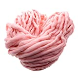 VANKER 260g Soft Roving Bulky Chunky Super Thick Big Spinning Hand Knitting Ply Yarn 35m(Pink)
