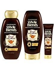 Garnier Hair Care Whole Blends Ginger Recovery Strengthening Shampoo and Conditioner with Ginger and Golden Honey Extracts