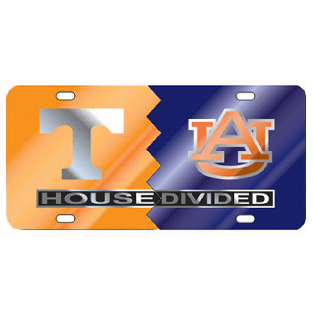 Tennessee Auburn House Divided Laser Cut License Plate