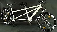 26 Zoll Alu Tandem Fahrrad MTB Shimano Deore Nabendynamo weiss