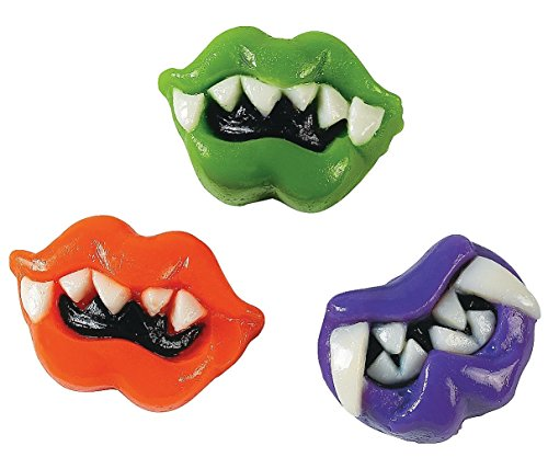 Lizzard Lips (41 Pcs.) - Candy & Soft & Chewy - Watermelon, Grape and Orange Flavors.