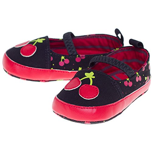 Kid's Sourpuss Cherry Mary Janes Red/Black XL