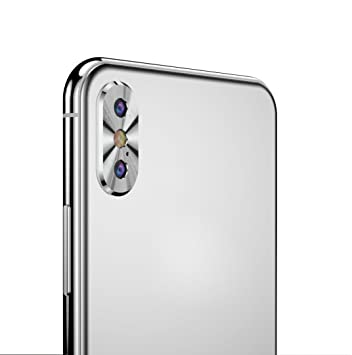 Amazon.com  Metal Rear Camera Lens Case Full Cover Skin Protector Ring  Accessory For iPhone X f3a0d61ac1155