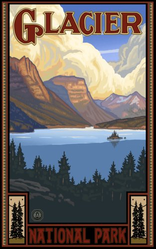 "Northwest Art Mall 11"" x 17"" Poster St. Mary Lake Glacier National Park by Paul A. Lanquist"