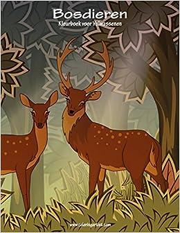 Kleurplaten Bosdieren.Amazon Com Bosdieren Kleurboek Voor Volwassenen 1 Volume 1 Dutch
