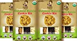 Scratch & Grain Baking Co. Organic Cookie Kit Oatmeal Raisin (Pack of 4)