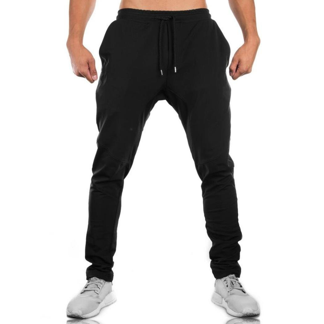 Dreamyth Men\'s Casual Sweatpants, Men Sweatpants Slacks Casual Elastic Sportwear Baggy Jogging Trousers