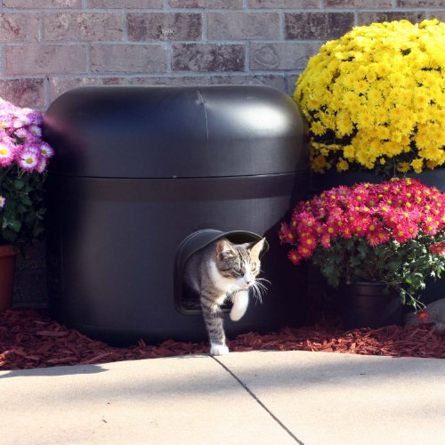 Kitty Tube The Gen 3 Outdoor Cat House w/Custom Pet Pillow & Double Insulated Liner For Sale