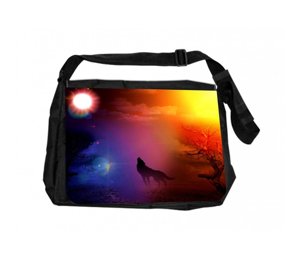 TM School Messenger Bag and Pencil Case Set Howling Wolf Rosie Parker Inc