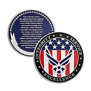 US Air Force Oath of Enlistment Challenge Coin for Airman's Gifts from Jia Ying Xin