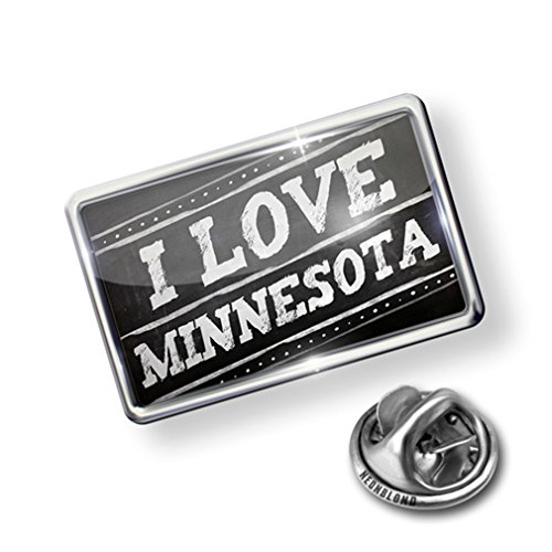 Pin Chalkboard with I Love Minnesota - Lapel Badge - NEONBLOND (Pin Minnesota Lapel)