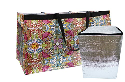 bundle-of-2-items-trunkster-3-compartment-organizer-tote-for-auto-with-side-mesh-pockets-and-separat