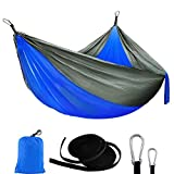 """Specification Total size:110""""L*39""""W Fabric size:79""""L*39""""W Package Size:10""""L*7""""W Stand Weight:300lbs Suitable for:Single/One person Package Includes 1x hammock 2x tree straps 1x carry bag"""