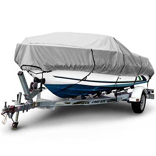 (Budge 1200 Denier Boat Cover fits Center Console V-Hull Boats B-1231-X8 (24' to 26' Long, Gray))