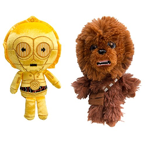 Star Wars Chewbacca and C3PO Funko (Set of 2) Galactic Plushies Cute Stuffed Animals Toys for Kids and Adults -