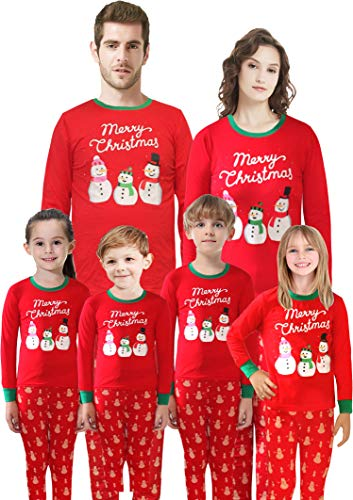 Matching Family Christmas Pajamas Boys Girls Santa Claus Sleepwear for Mum Size S -