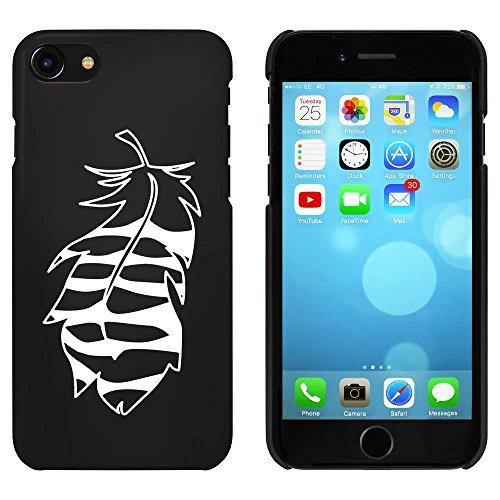 Noir 'Plume à Rayures' étui / housse pour iPhone 7 (MC00058453)