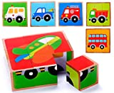Vehicle Block Chunky Wooden Puzzle for Toddlers, Preschool...