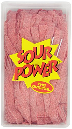 Sour Tub (Sour Power Strawberry Belts, 150-Count Tubs, 42.3 Ounce, (Pack of 2))