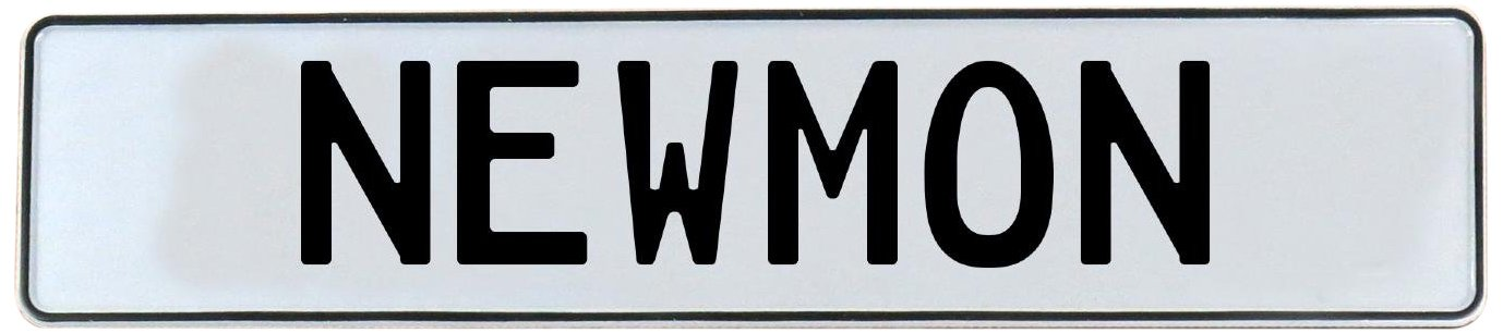 Newmon White Stamped Aluminum Street Sign Mancave Vintage Parts 716408 Wall Art