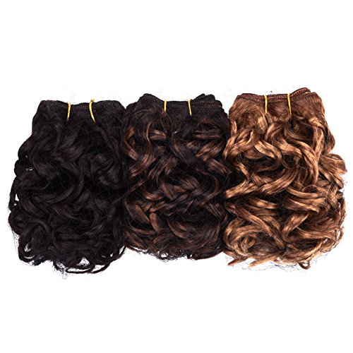 Price comparison product image Silike Italian Body Wave Hair Wefts (DXR 327) 3 Pieces 8 Inches Ombre Blended Hair Weaves