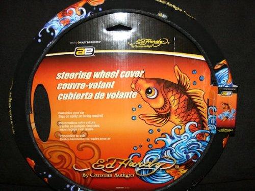 - Ed Hardy Koi Fish Steering Wheel Cover