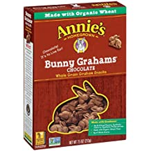 Annie's Bunny Grahams, Chocolate, Graham Snacks, 7.5 oz Box