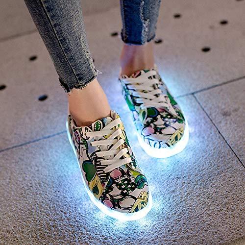 PU Zapatillas ZHZNVX Redondo de iluminados Poliuretano talón Mujer Punta Zapatos Verde Negra Green Zapatos Planas de Primavera qtHAt