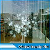 HOHO Shatterproof Transparent Window Film Clear Stickers Glass Protection Tint 8mil 60''x 33ft Roll