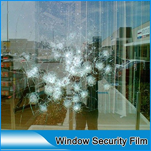 HOHO Shatterproof Transparent Window Film Clear Stickers Glass Protection Tint 8mil 60''x 33ft Roll by HOHO