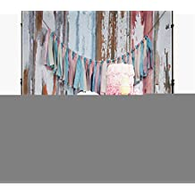 Silk Photography Background 5x7 Gray Wood Floor Baby 1st Birthday Party Backdrop Seamless Studio Background Kids
