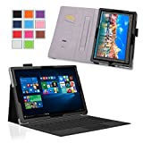 Surface Pro 4 Case - Exact [PRO Series] - [Professional][Drop Protection] Slim-Fit PU Leather Folio Case for Microsoft Surface Pro 4 Tablet Black