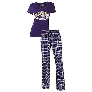 bca5b11d Baltimore Ravens Womens Pajama Sleep Set (Large) at Amazon Women's ...