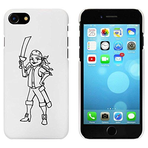 Blanc 'Pirate Féminin' étui / housse pour iPhone 7 (MC00058156)