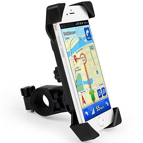 Forfar Bike Phone Mount, 360 Degrees Rotatable, Universal Bicycle Phone Holder for iPhone7, 7plus, Android , Maximum for 7 inches, Fits any Smart Phone GPS Devices, Classic Black