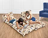 Wild West Cowboy Western Kids Teen Floor Pillow Case Lounger Cushion Cover (Pillows Not Included)