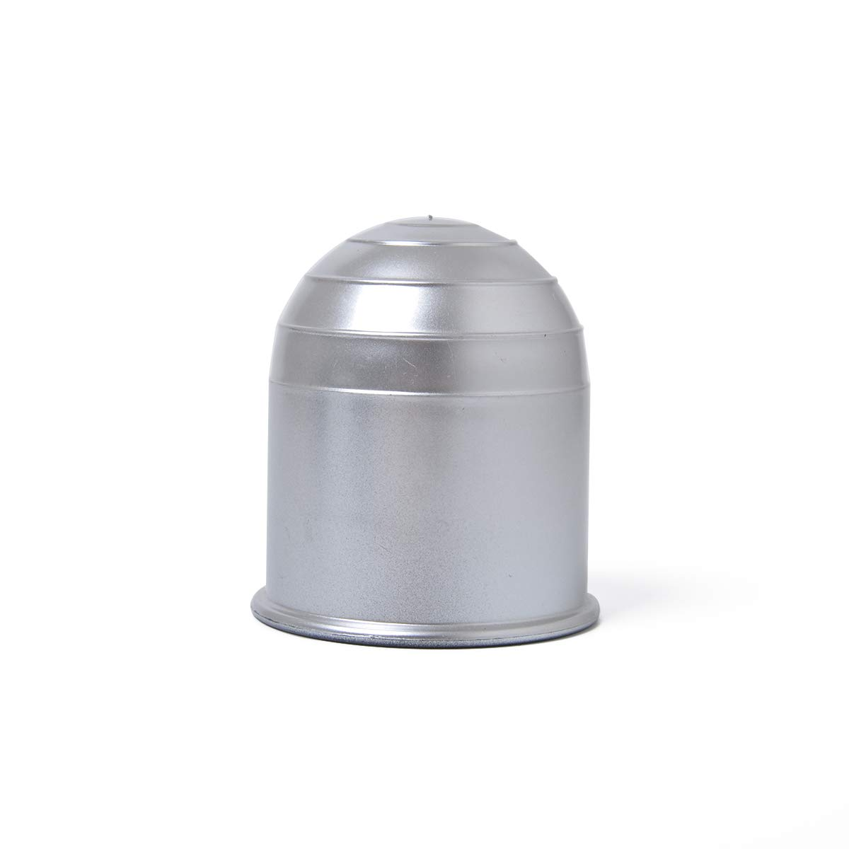 ETbotu Auto Plastic Oval 2 Tow Bar Ball Cover Car Towing Hitch Towball Protect Cap Silver