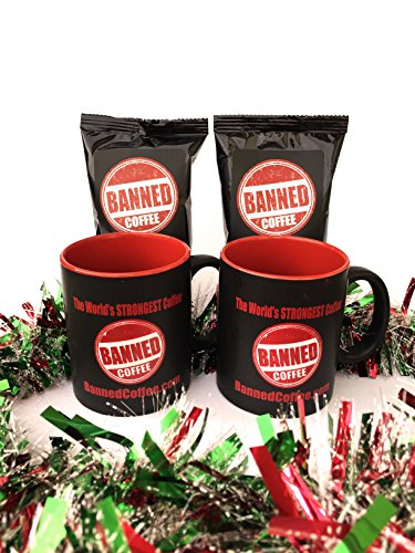 Christmas Coffee Gift Box from Banned Coffee World's Strongest Coffee